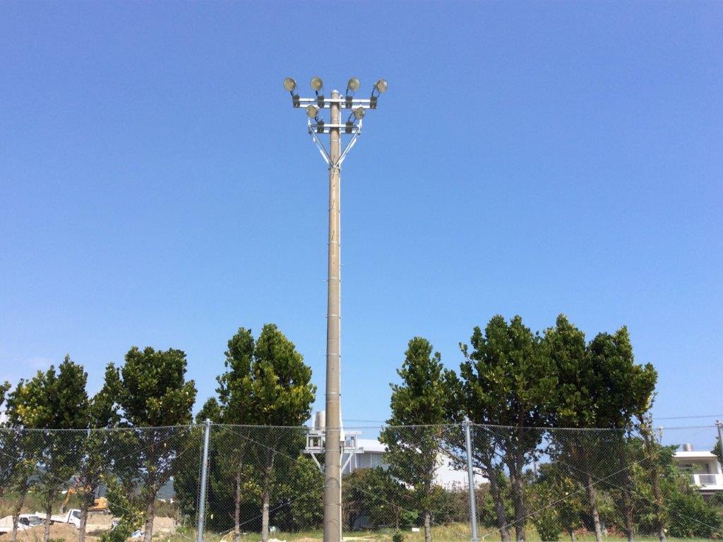 吉の浦公園照明灯機能整備工事02
